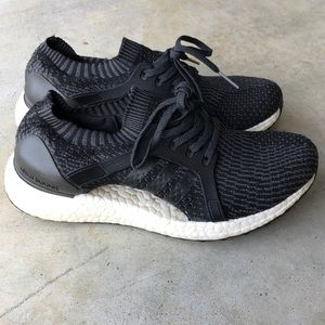 Black Adidas UltraBoost X!! US 7.5